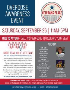 Veterans Place Overdose Awareness Event